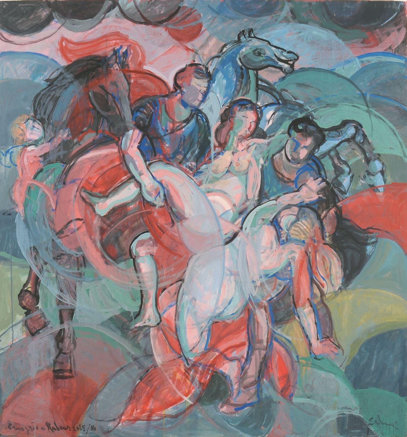 2-Il ratto delle figlie di Leucippo (omaggio a Rubens)TAG